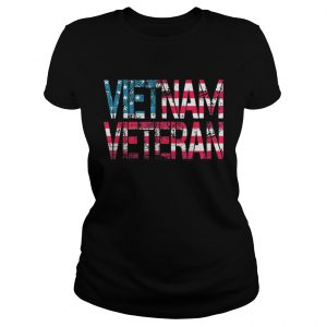 Vietnam Veteran American Falg Ladies shirt