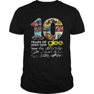 10 years of Glee 2009 2019 signature thank  Unisex