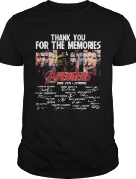 11 years of Avengers thank you for the memories t-shirt