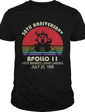 50th Anniversary apollo 11 first manned lunar landing July 20 1969 t-shirt