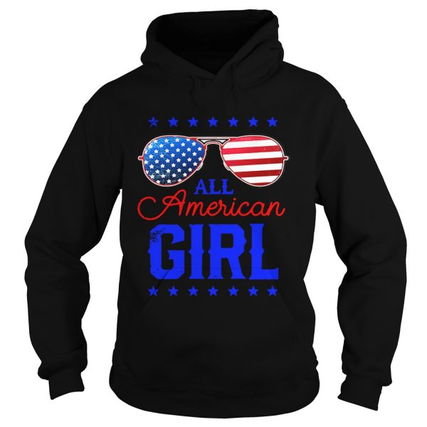 All American Girl 4th of July Family Matching Sunglasses Hoodie shirt