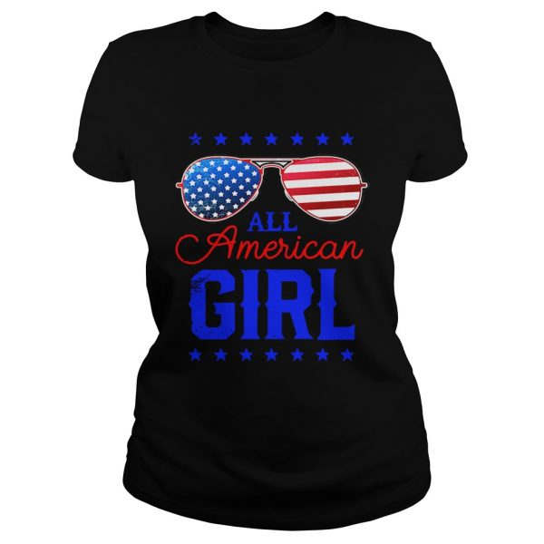 All American Girl 4th of July Family Matching Sunglasses Ladies shirt
