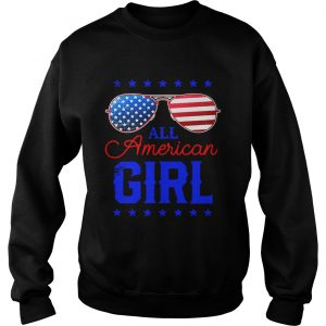 All American Girl 4th of July Family Matching Sunglasses Sweat shirt