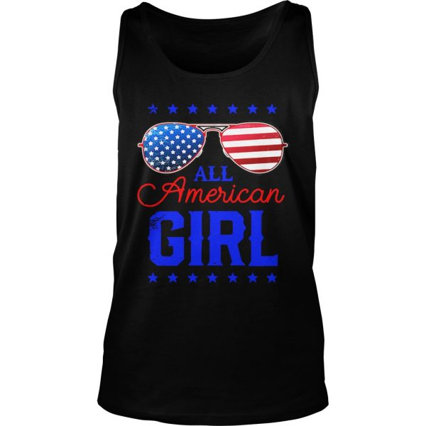 All American Girl 4th of July Family Matching Sunglasses Tank Top shirt