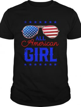 All American Girl 4th of July Family Matching Sunglasses t-shirt