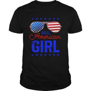 All American Girl 4th of July Family Matching Sunglasses Unisex shirt