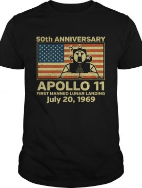 American flag apollo 11 first manned lunar landing July 20 1969 t-shirt