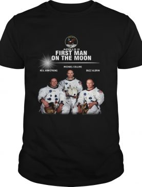 Apollo 11 first man on the moon Neil Armstrong Michael Collins Buzz Aldrin t-shirt