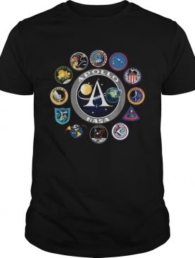 Apollo Missions Patch Badge NASA Program t-shirt