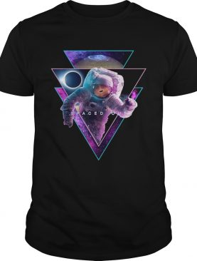 Astronaut Spaced Out – Aesthetic Vaporwave Eclipse Space Art t-shirt