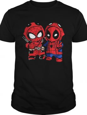 Baby Deadpool and Spider-Man t-shirt