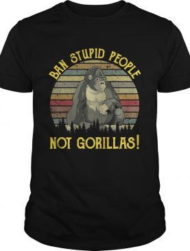 Band stupid people not gorillas retro t-shirt