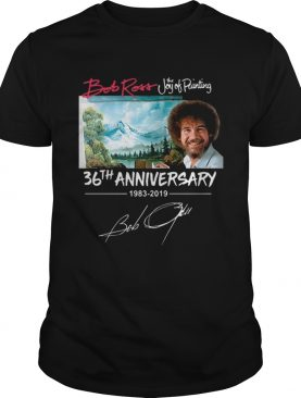 Bob Ross The Joy of Painting 36th Anniversary signature t-shirt