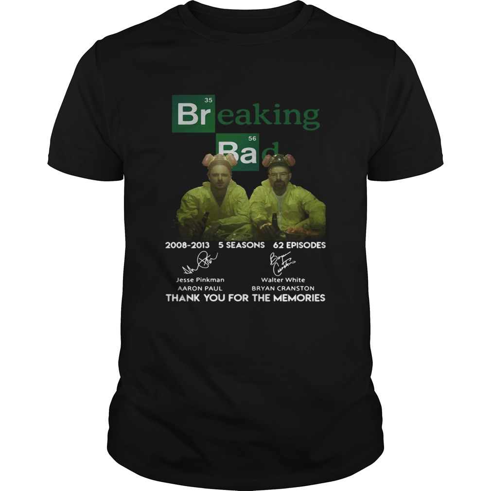 Breaking bad 200820013 5 seasons 62 episodes thank you for the memories Unisex