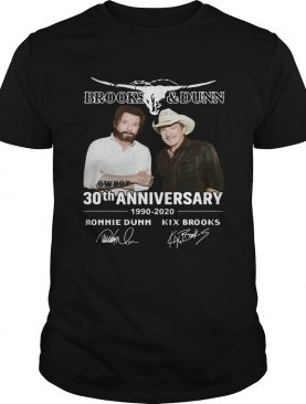 Brooks and Dunn 30th anniversary 1990 2020 t-shirt