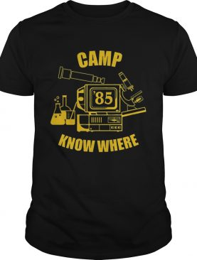 Camp know where Stranger things t-shirt
