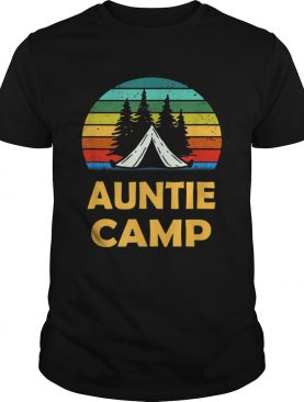 Camping Auntie Camp Matching Summer Camper t-shirt
