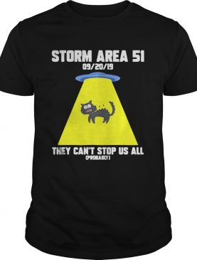 Cat Storm Area 51 they can't stop us all t-shirt