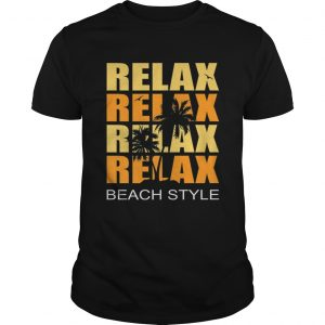 Cute Relax Sunset Beach Vacation Palm Tree Holiday Premium Unisex shirt
