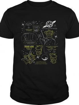 Disney Pixar Toy Story Alien Claw Hive Master Map Bee Hive t-shirt
