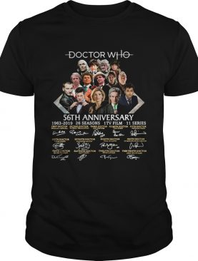 Doctor Who 56th anniversary signature t-shirt