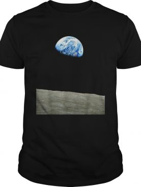 Earthrise Earth From The Moon Landing Apollo Space t-shirt