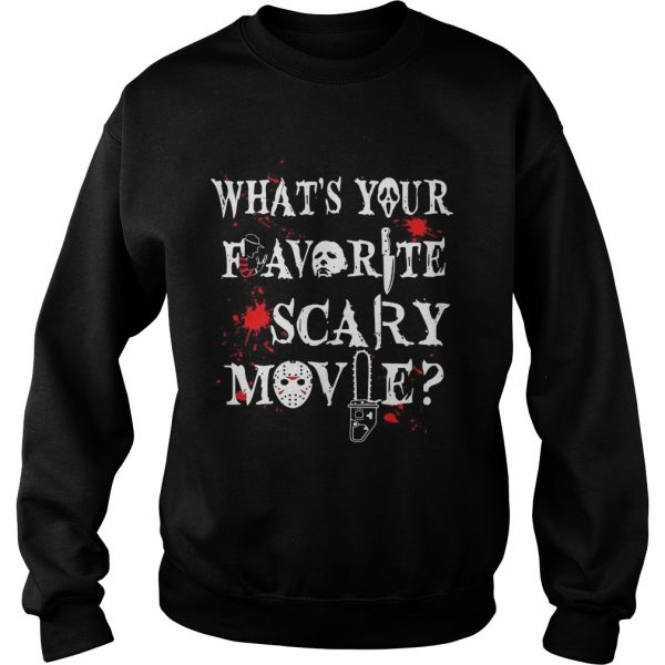 Halloween Ghostface what's your favorite scary movie Sweat shirt