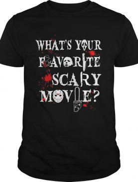 Halloween Ghostface what's your favorite scary movie t-shirt
