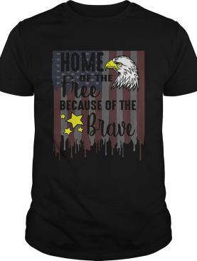 Home Of Free Because Of Brave Usa Veterans 4th Of July t-shirt