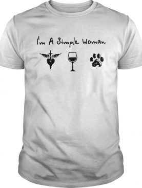 I'm a simple woman I love Jesus wine and dog T-shirt