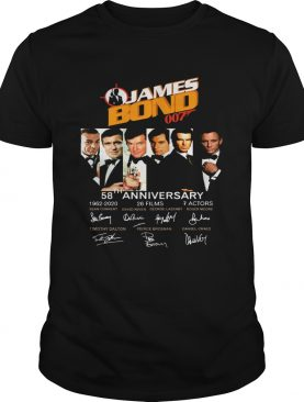 James Bond 007 58th Anniversary 1962-2020 t-shirt