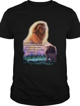 Look inside yourself you are more than what you have become remember who you are remember The Lion King t-shirt