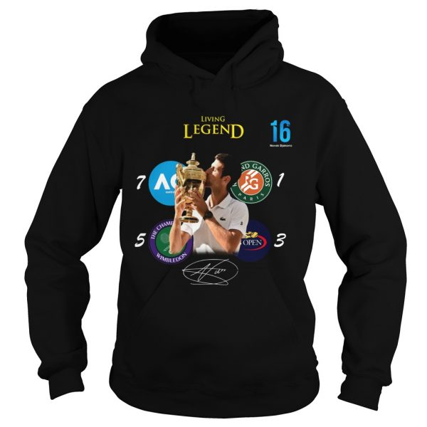 Novak Djokovic living legend Champion Wimbledon 2019 Hoodie shirt