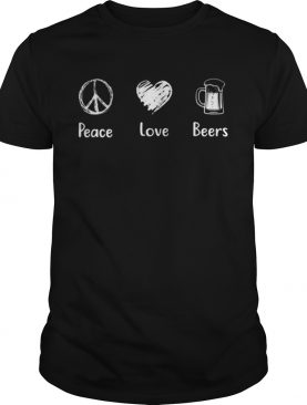 Peace Love Beers Peace Sign shirt