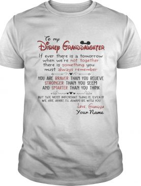 Personalized Name From Grandpa To My Disney Granddaughter TShirt