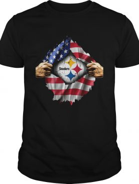 Pittsburgh Steelers inside America flag Independence day 4th of July t-shirt