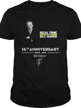 Real time with Bill Maher 16th anniversary 2003 2019 signature t-shirt