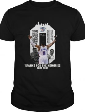 Russell Westbrook thank for the memories shirt