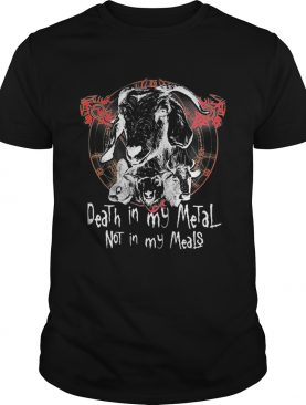 Satan death in my metal not in meals t-shirt