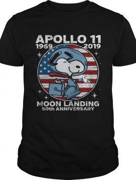 Snoopy Apollo 11 moon landing 50th anniversary t-shirt