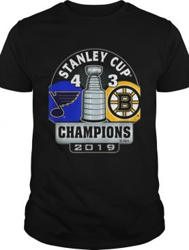 Stanley Cup champions St Louis Blues 4 3 Boston Bruins t-shirts