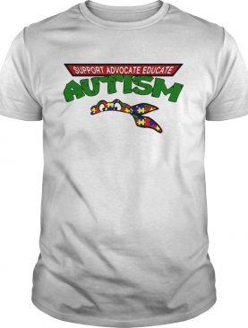 Support advocate educate autism shirt