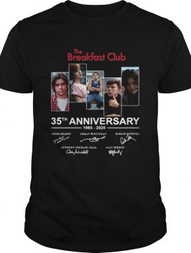 The Breakfast Club 35th anniversary 1985 2020 signature t-shirt