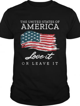 The united states of America love it or leave it America Flag shirt