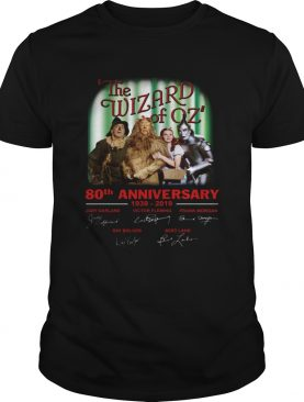 The wizard of oz 80th anniversary 19392019 signatures shirt