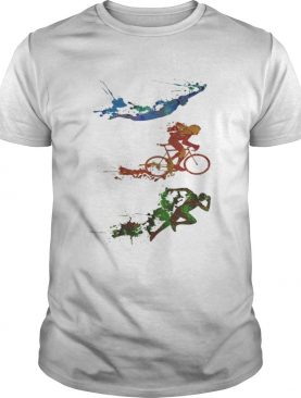 Triathlon watercolor t-shirt