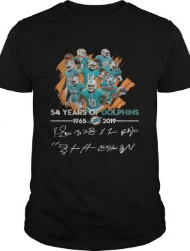 54 years of Dolphins 19652019 signature shirt