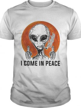 Aliens I come in peace shirt