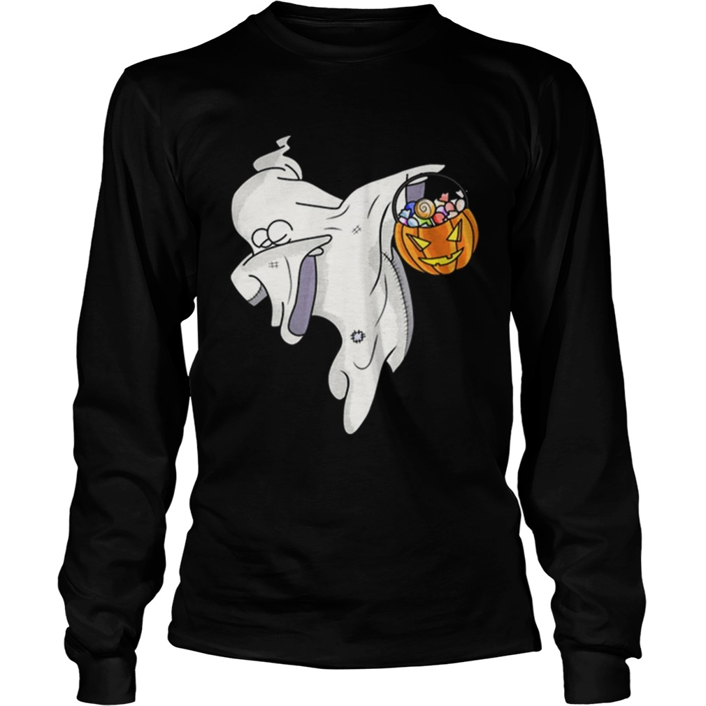 Awesome Happy Daboween Scary Ghost Halloween Dabbing Trick Dab LongSleeve