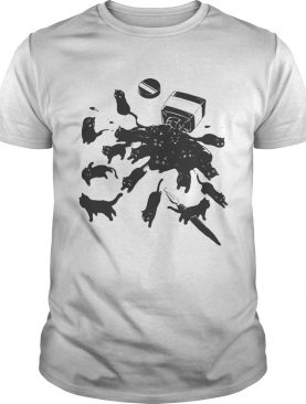 Cats in ink bottle shirt